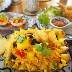 今年のクリスマスはタイ料理で!パイナップルボート入りチャーハンを作る!