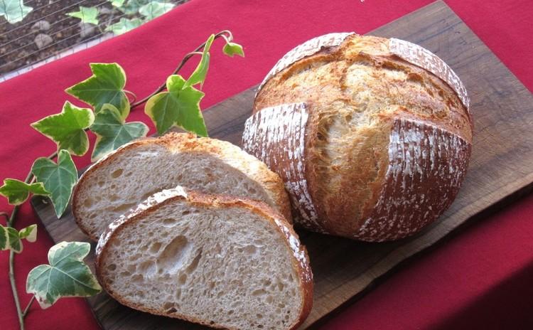 1つの生地で本格カンパーニュ・くるみパン・メランジェ!ホシノ天然酵母で