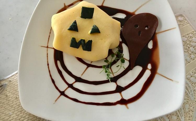 かぼちゃクリームのクレープ包み〜ハロウィンバージョン〜