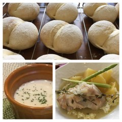 ハイジの白パン 〜チキンのシードル煮&ヴィシソワーズ〜