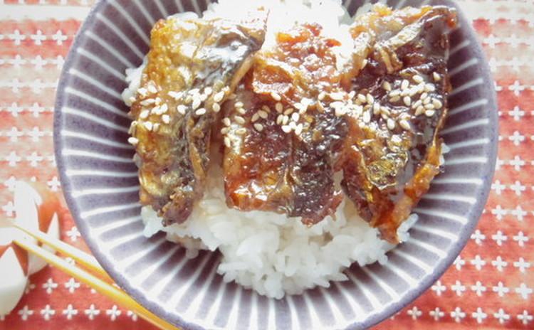 秋刀魚のプチかば焼き丼