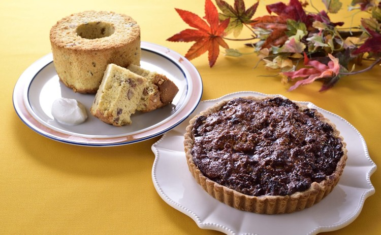 秋は大人スイーツで♡いちじくのタルト&栗のシフォンケーキ