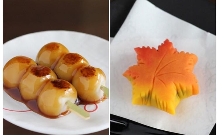 秋の予感♬本葛粉で絶品「みたらし団子」と「紅葉」