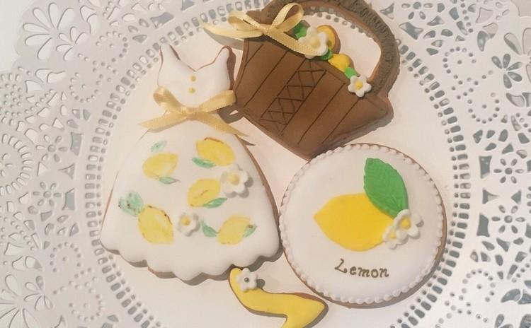 「夏の終わりにレモンワンピースでおでかけ」アイシングクッキー