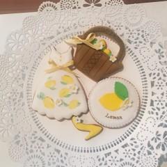 お子様連れ限定日「レモンワンピースでおでかけ」アイシングクッキー