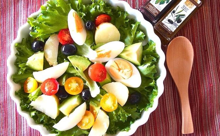 ポルペッティや特製ハーブ塩で作るニース風サラダ 絞り出しスイートポテト