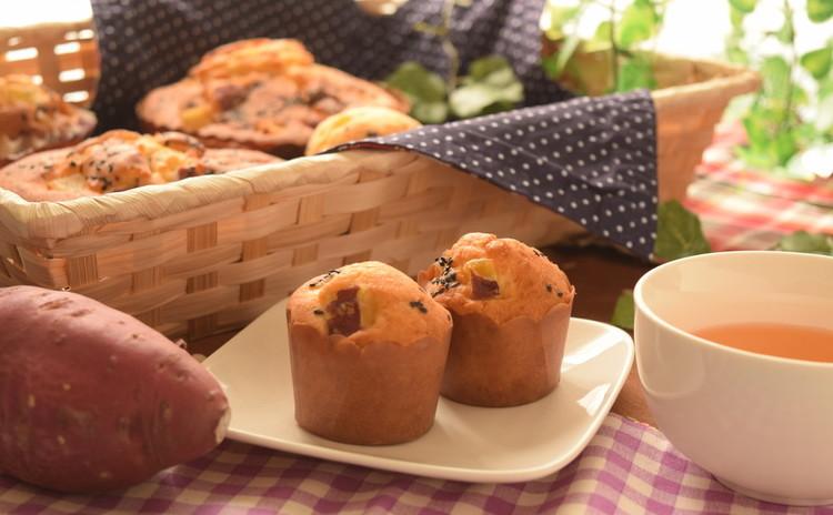 【お土産&ランチ付き】秋の味覚♡さつまいもマフィン&ふわふわ白パン♡