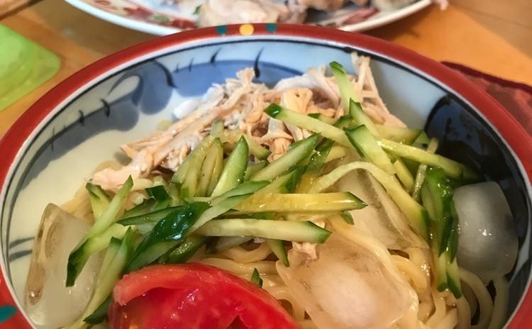 ☆中華だれde棒々鶏と冷やし中華&スープ