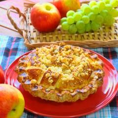 香ばしくまろやかな~チーズ&カスタードクリームアップルパイ~