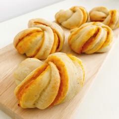 【自家製酵母】かぼちゃのねじりあんパン&簡単クイックシチューetc