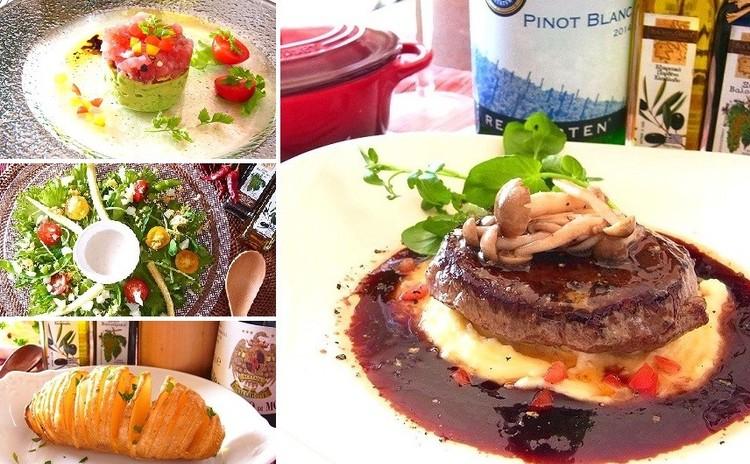 【日程追加】牛肉の赤ワインソースや華やかオードブル全4品