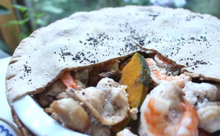 ムルグ クッシュ パルダー(鶏肉のパイ包み焼)