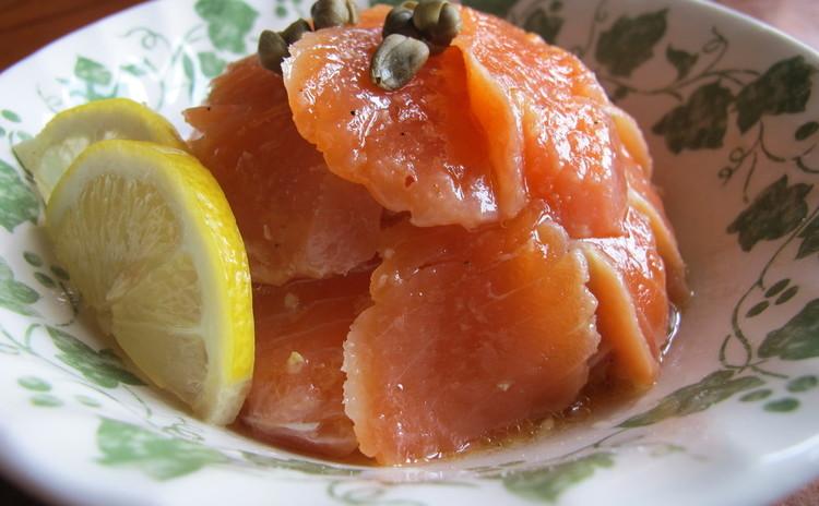 サーモンマリネのサラダオレンジ風味