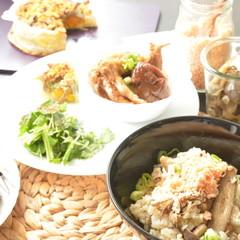 お砂糖フリーの創作和食 秋鮭フレーク、南瓜の和風キッシュ、