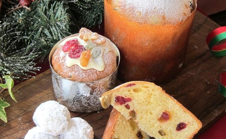 ☆クリスマスに☆天然酵母のパネトーネとシュトーレン風スノーボール