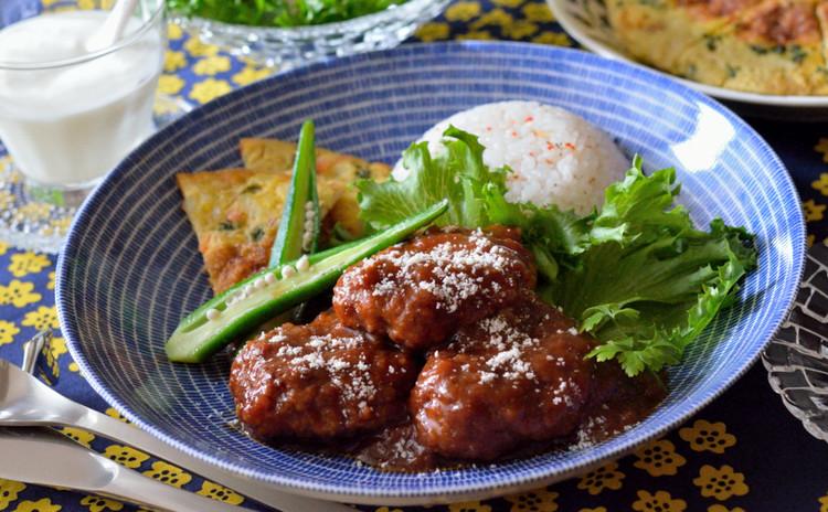 ふわふわハンバーグ♡オムレツとマリネ、サラダ&自家製ドレッシングも♪