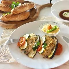 【第2弾企画】イタリアを旅するメニュー♪今度はお魚!パンはセモリナ4個