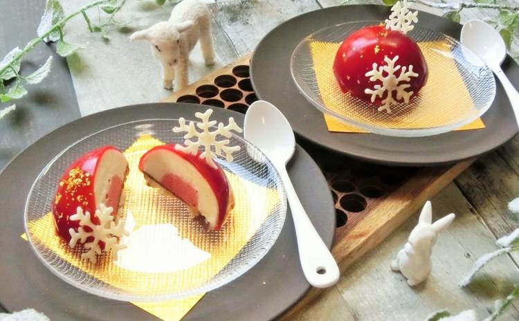 ホワイトチョコとラズベリーのムース