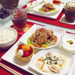 【秋の中華テーブル】