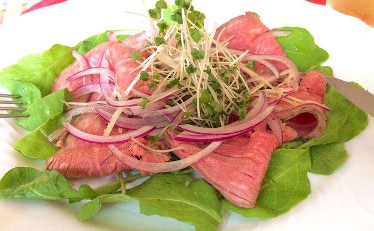 秋色イタリアン♫牛肉のカルパッチョ&さつまいもポタージュ