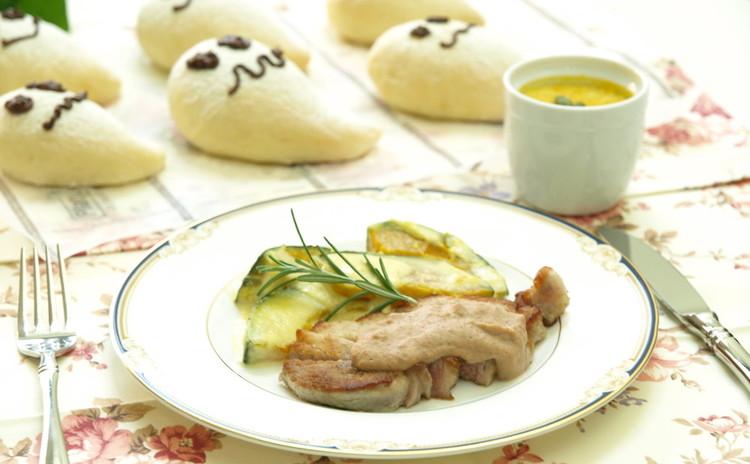 オバケ白パンと肉料理、付合せ、デザートの欲張りレッスン♪