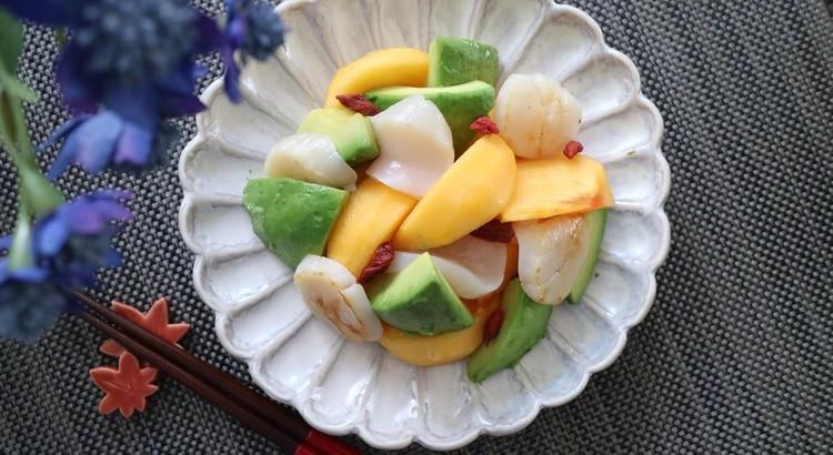 柿とホタテのサラダ