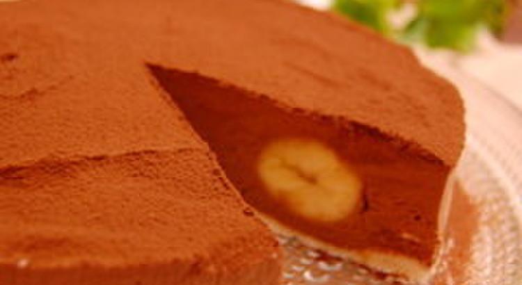 生チョコ風バナナチョコケーキ