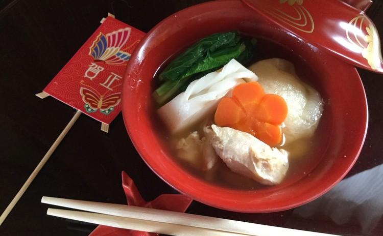 ☆関東風お雑煮〜お出しと鶏もも肉の旨味いっぱい