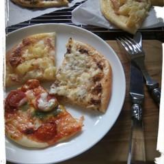 ノンバターと北海道産の小麦、白神こだま酵母で作る人気のピザ3種類!