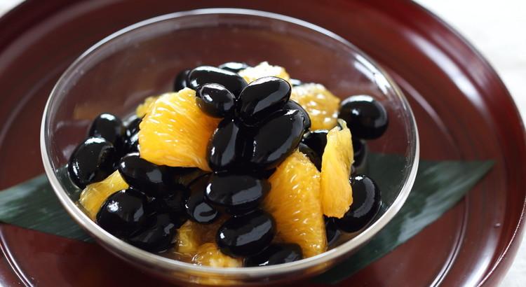 黒豆のオレンジマリネ