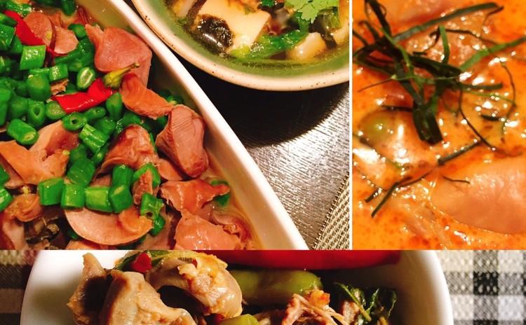 タイの家庭料理お惣菜三品