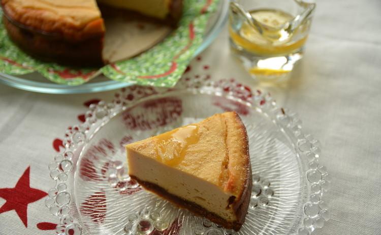 豆乳リコッタ風チーズで作るベークドケーキ~ハチミツレモンソース~