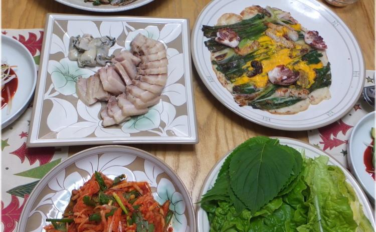 ~パジョンと豚肉ポッサム~定番韓国料理レッスンと他2品