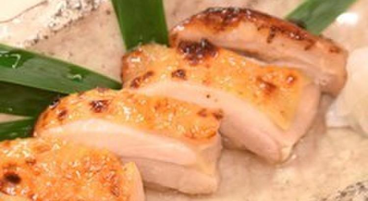 地鶏の幽庵焼き 里芋ソース