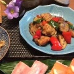 リクエスト~すぐ出来る!タッパーで作る押し寿司と野菜たっぷり黒酢南蛮