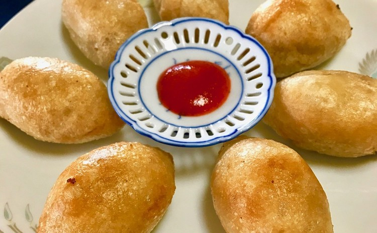 ハムスイコ⭐︎揚げ胡麻団子⭐︎揚げワンタン⭐︎肉ワンタンスープ