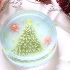 ゼリーアートでクリスマスツリーを