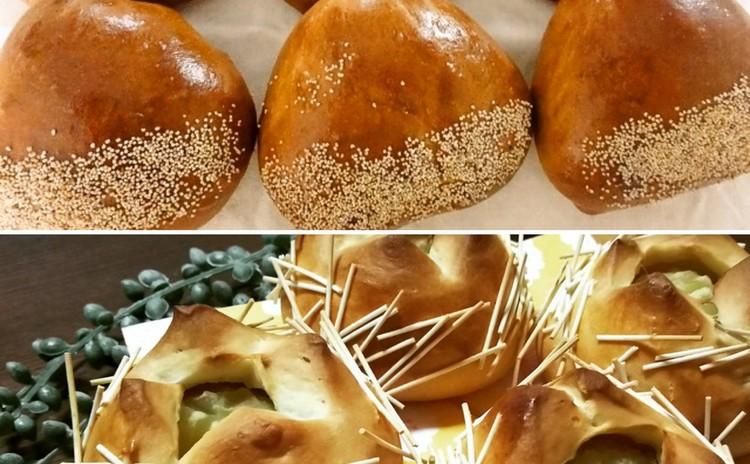 ランチ&お土産付☆白神こだま酵母で作る「栗あんパン&いが栗あんパン」
