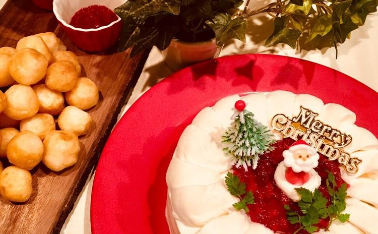 世界で一つのクリスマスケーキ作ってみましょう。5号サイズをお持ち帰り。