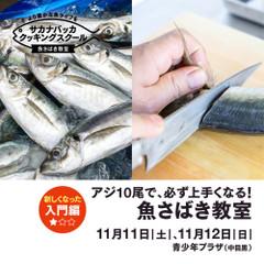 魚さばき教室 入門編 アジ10尾で、必ず上手くなる!難易度 ★☆☆