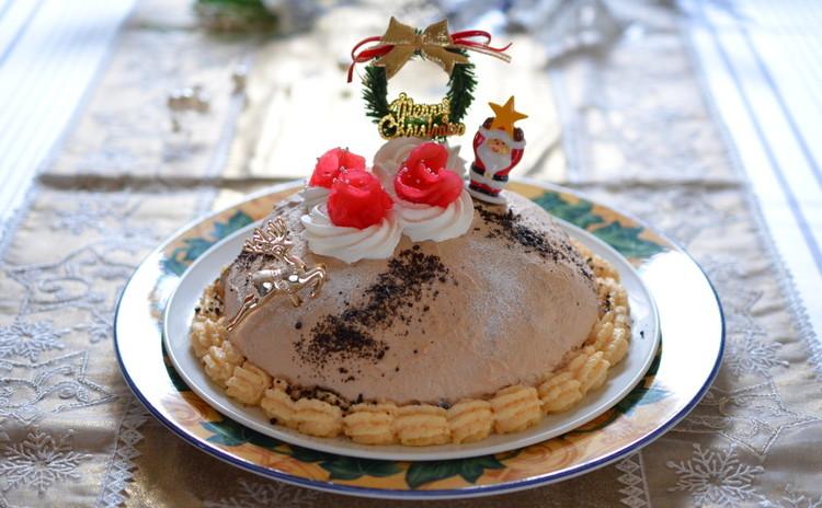 クリスマスケーキ☆ティラミスムースの米粉ズコット☆お楽しみランチ付き♪
