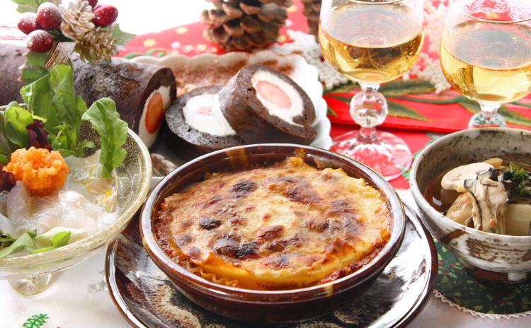 ラザニア・煮物・カルパッチョ。和洋折衷、応用満載の家庭のクリスマス献立