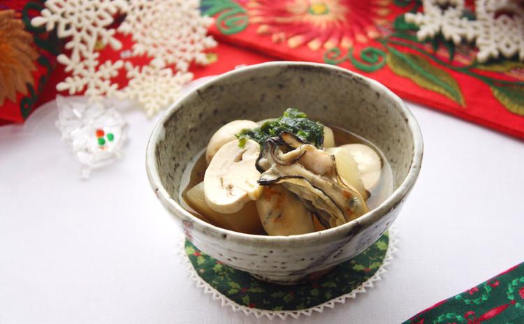大根と牡蠣の炊き合わせ