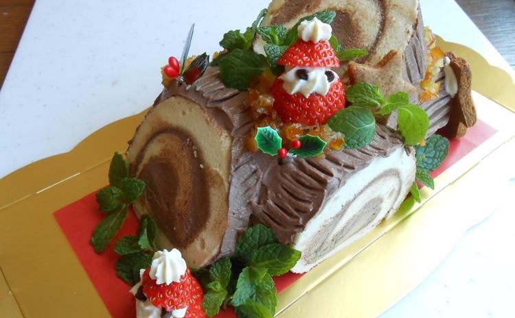 無添加♡お豆腐生チョコクリームの『ブッシュドノエル』作ってお持ち帰り!