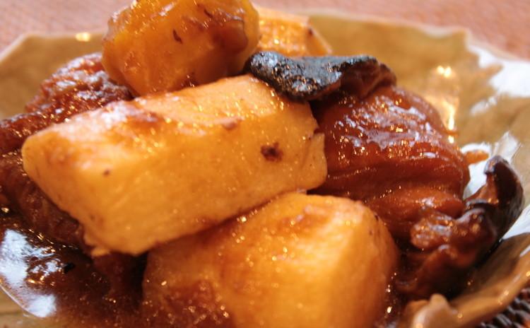 栗と鶏肉と長芋の煮物