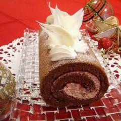 新しい発見!?ほっくりマロンとベリーのふわふわロールケーキ