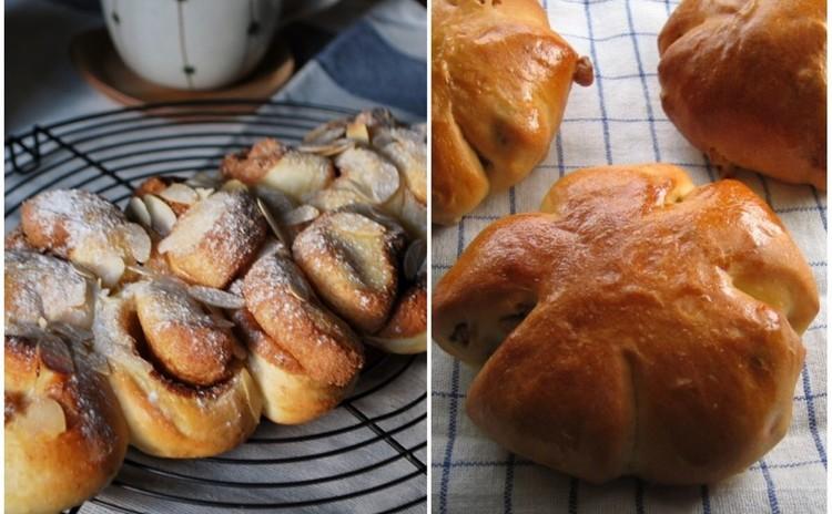 《2種類のカフェパン》胡桃パン&アーモンドシナモンブレッド