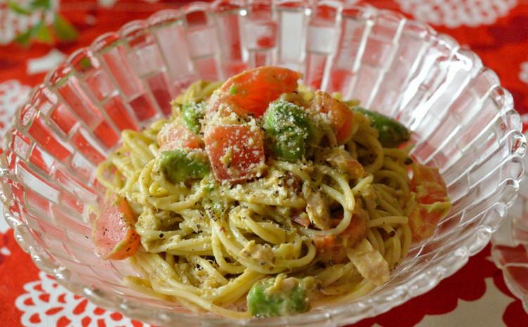 アボカド&トマト&ツナのサラダスパゲッティ