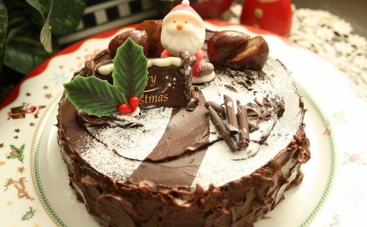 「クリスマスショコラ」サンタ🎅がやってきました(15㎝丸1台)