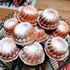 クリスマスのお菓子クグロフをミニサイズでデザートに。